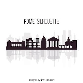 Flache skyline von rom