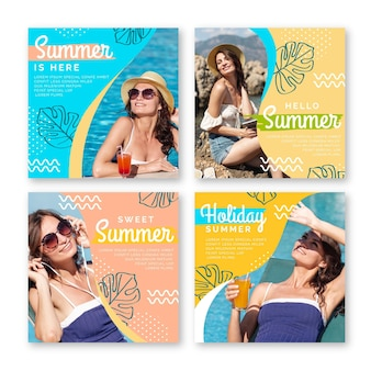 Flache sommer instagram beiträge sammlung mit foto