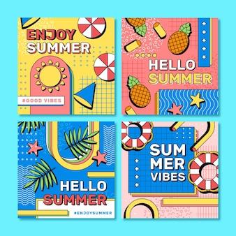 Flache sommer instagram beiträge sammlung