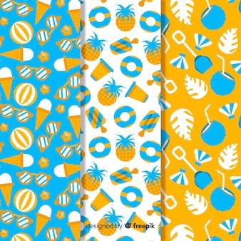 Flache sommermuster-kollektion