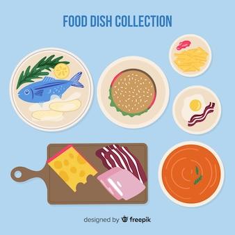 Flache Speisenteller-Sammlung
