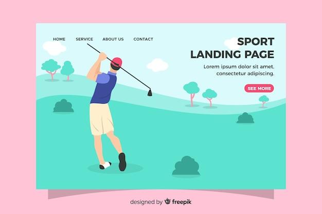 Flache sport landing page vorlage