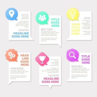 Flache sprechblasen infografiken