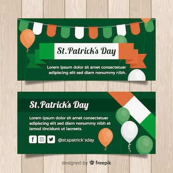 Flache st. patrick's day banner