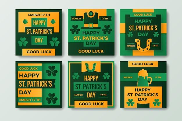 Flache st. patrick's day instagram posts