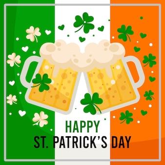 Flache st. patricks day biere