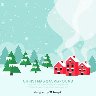 Flache stadt weihnachten hintergrund