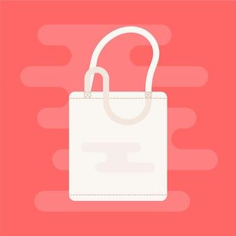 Flache stofftasche abgebildet