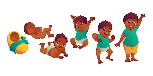 Flache stufen einer babyillustration baby