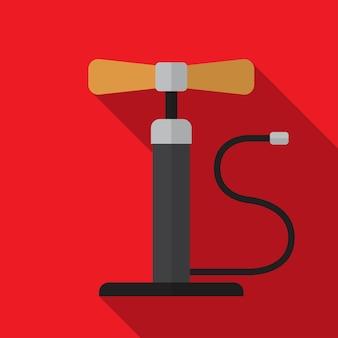 Flache symbolabbildung der radpumpe isoliertes vektorzeichensymbol