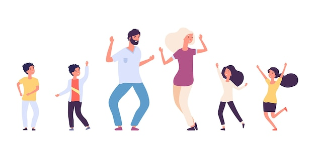 Flache tanzende menschen