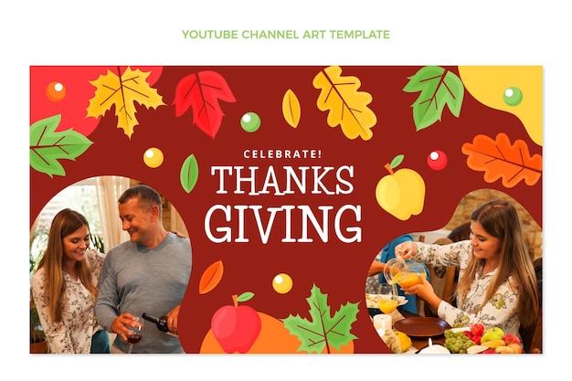 Flache thanksgiving-youtube-kanalkunst