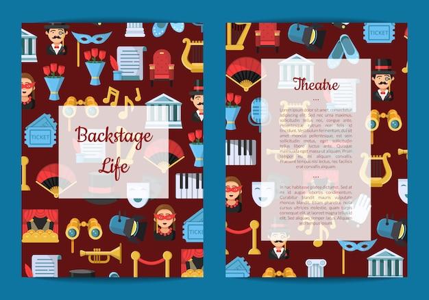 Flache theaterkarte oder flyer vorlage