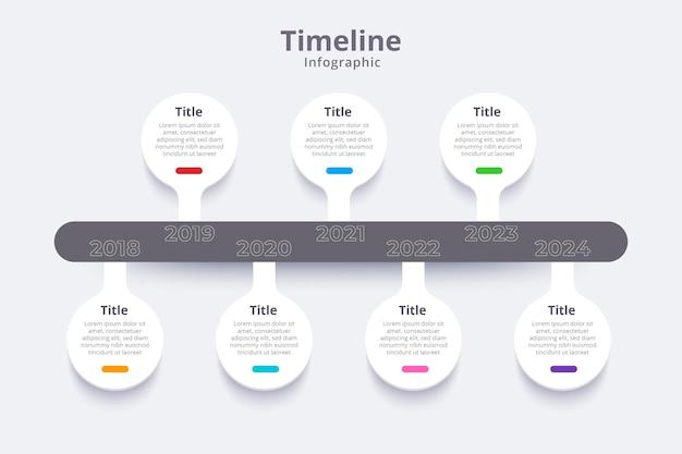 Flache timeline-infografik-vorlage Kostenlosen Vektoren