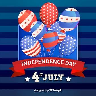 Flache unabhängigkeitstag hintergrund