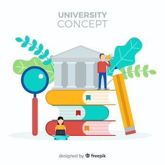 Flache universität hintergrund