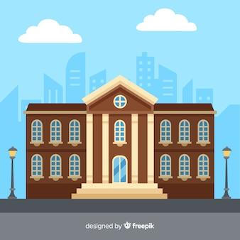 Flache universitätsgebäude hintergrund