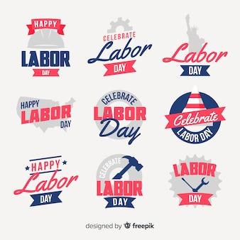 Flache usa labor day label kollektion