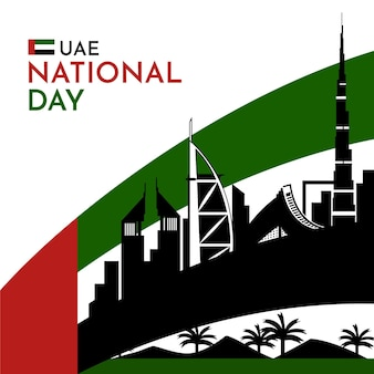 Flache vae nationalfeiertagsfeier
