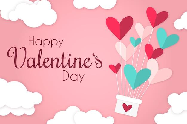 Flache valentinstag tapete