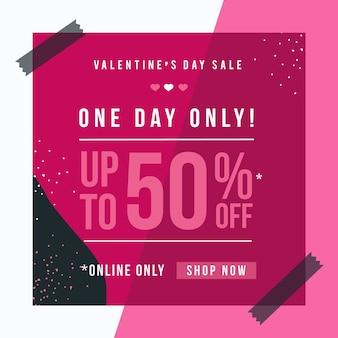 Flache valentinstag verkauf