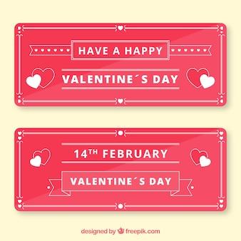 Flache valentinstagfahne mit monolinen