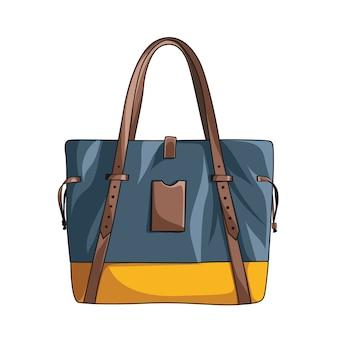 Flache vektor handtasche für frauen