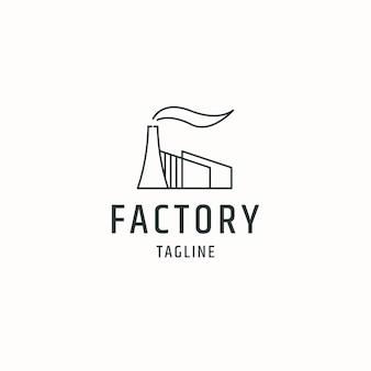 Flache vektorillustration der fabriklogoikonen-designschablone