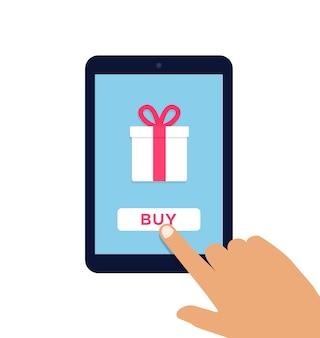 Flache vektorillustration des e-commerce