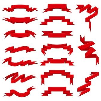Flache vektorsatz der bandfahne