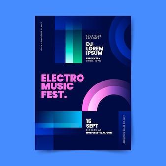 Flache vertikale plakatvorlage für musikfestivals
