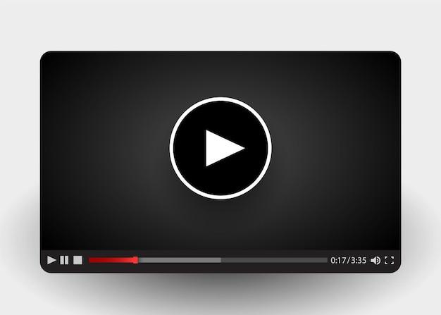Flache videoplayer-vorlage für web- und mobile apps.