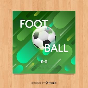 Flache vorlage des fußballplakats