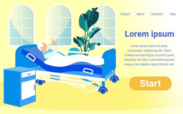Flache vorlage für online-projekt