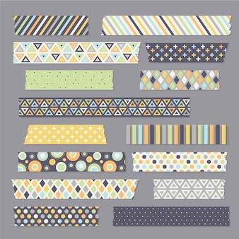 Flache washi tape sammlung