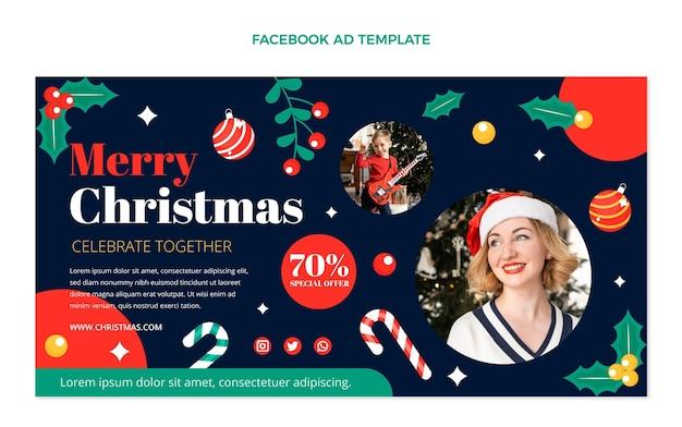 Flache weihnachts-social-media-promo-vorlage