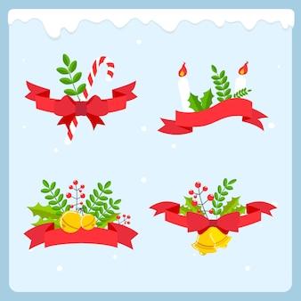 Flache weihnachtsband sammlung