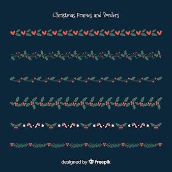Flache Weihnachtsgrenzen
