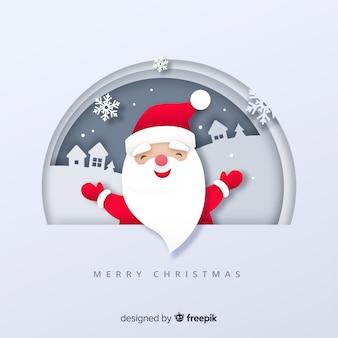 Flache Weihnachtshintergrund