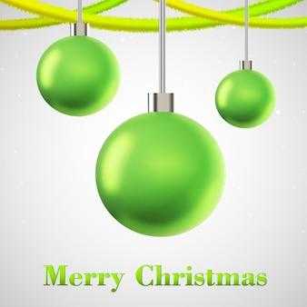 Flache weihnachtskarte