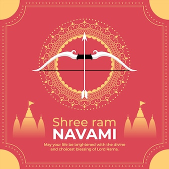 Flache widder-navami-illustration