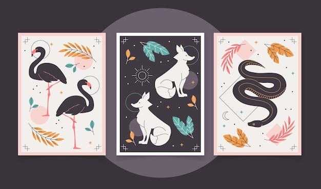 Flache wildtier-cover-kollektion