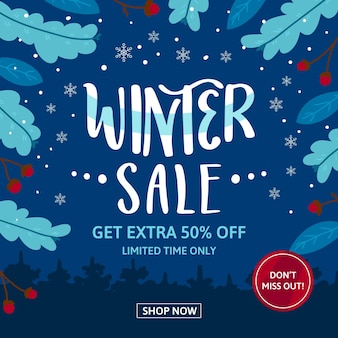 Flache winter sale promo