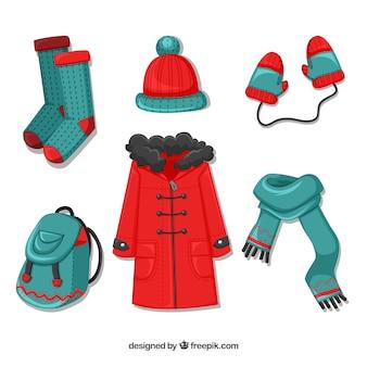 Flache winterkleidung für frau