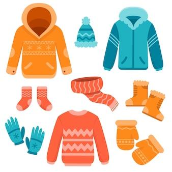 Flache winterkleidung und das nötigste