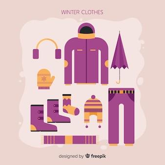 Flache winterkleidung