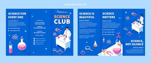 Flache wissenschaftliche broschürenvorlage