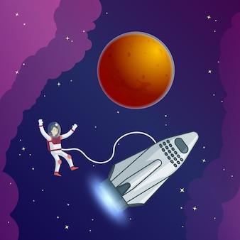 Flache wissenschaftliche galaxie-vorlage