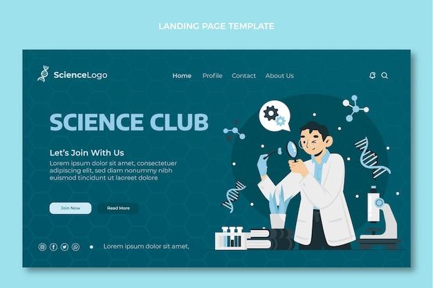 Flache wissenschafts-landingpage Kostenlosen Vektoren