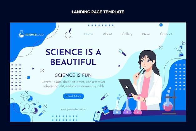 Flache wissenschafts-landingpage